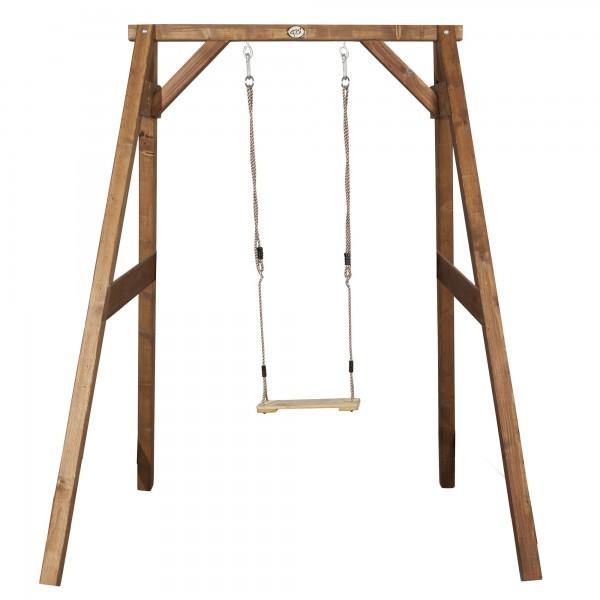 """Einzelschaukel """"Allegra"""" aus Hemlock-Holz in braun 160x181x207cm Schaukel"""