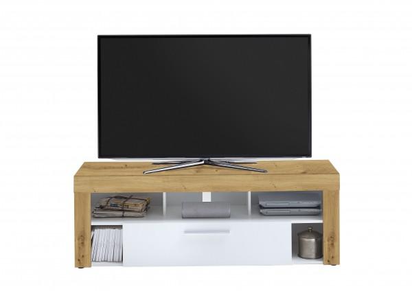 """TV-Lowboard """"Thor"""" Aristan Eiche weiß  in 150x53x41,5cm TV-Board Fernsehtisch"""