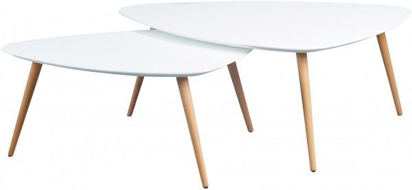 """Couchtisch """"Clarissa"""", 2er-Set, matt weiß, 100 x 43 x 70 cm, 90 x 36 x 60 cm"""