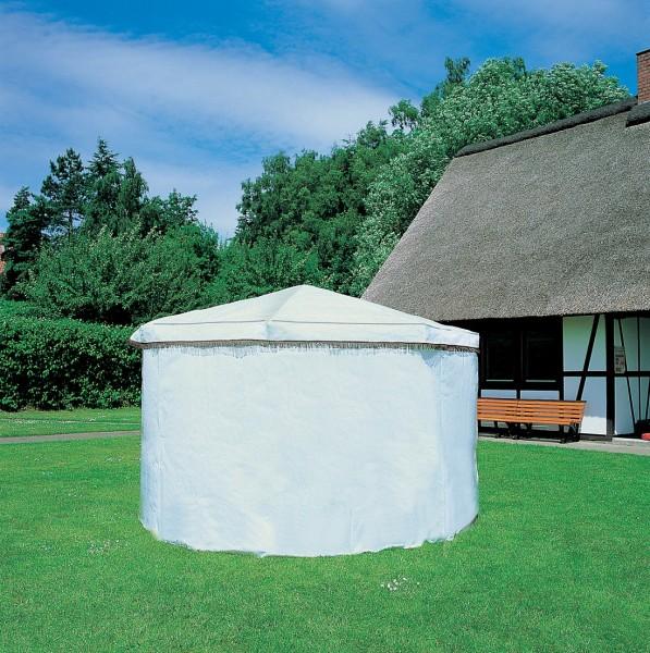 """Wetterschutzumhang für Pavillon """"Lena"""", weiß, PE-Gewebe, 2 Eingangstüren, Wetterschutz, Garten"""