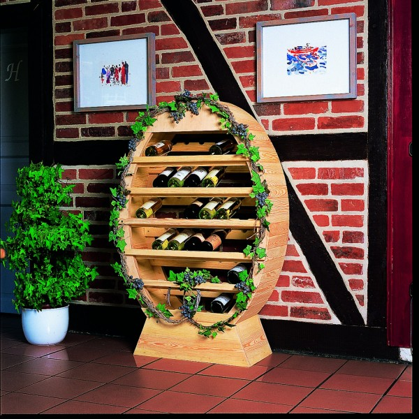 """Weinregal """"Ringo"""", Kiefer, natur, 90 x 140 x 35 cm, Weinregal, Weinlagerung, Küche, Gastronomie"""