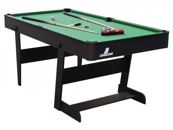 """Billardtisch """"Sergio"""" in schwarz aus Holz 183x91x80cm Pool-Table"""
