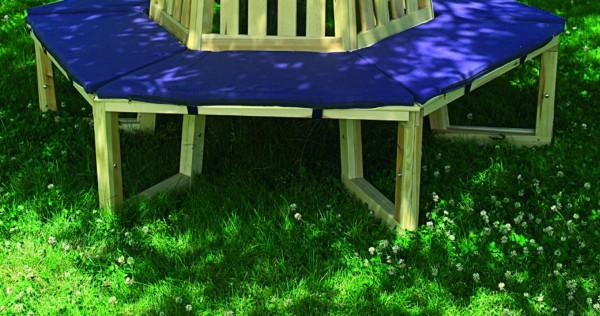 """Sitzauflage für Baumbank """"Leon I"""", blau, Baumwolle, Auflage, Bankauflage, Garten"""