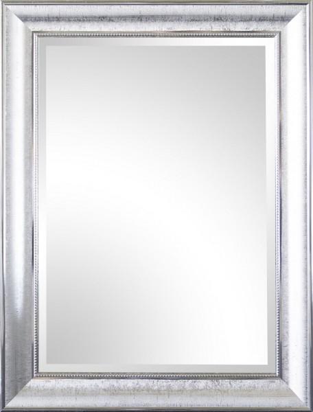 "Beauty.Scouts Wandspiegel ""Asamta"", Rahmenspiegel Klarglas Facette PS chromfarben Aufhänger 60x80cm"