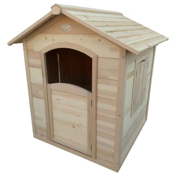 """Holzspielhaus """"Ulv"""" 112,5x110,5x120cm aus Hemlock Holz in braun"""