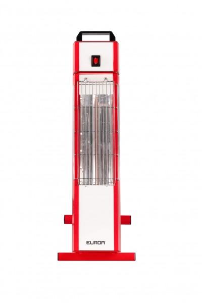 """Stahlungsheizung """"Aida"""" rot/weiß 50x24,3x71,5cm elektrische Heizung Außenheizung"""