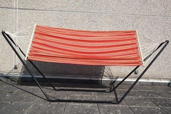 """Stabhängematte Hängematte """"Red Scooter"""" mit Baumaufhängung rot orange 100x200 c"""