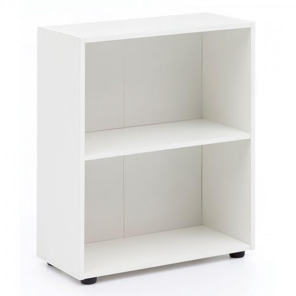 """Bücherregal """"Mali"""" weiß modern elegant schlicht 60x75x29cm Standregal Regal"""