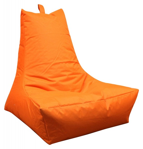 Mesana XXL Lounge-Sessel, 100x90x80 cm, Sitzsack Outdoor & Indoor, wasserabweisend, orange