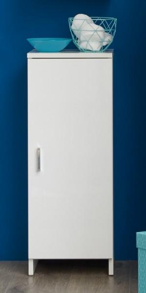 """Badezimmerschrank """"Liv"""", Stauraumelement, weiß, weiß Hochglanz, 30x79x30cm"""