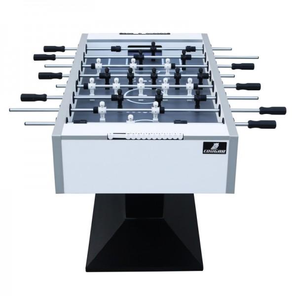 """Fußballtisch """"Lionel"""" aus Holz in weiß-schwarz 141x76x90cm Tischfussball Kicker"""