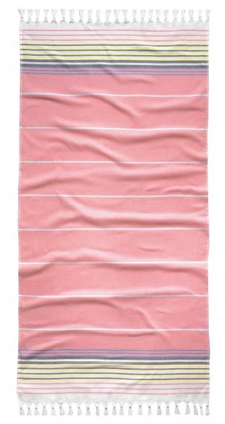 """Tom Tailor Saunatuch """"Miriam"""", 90 x 180 cm, coralle, Hamamtuch, Strandtuch, Badetuch, Badezimmer"""