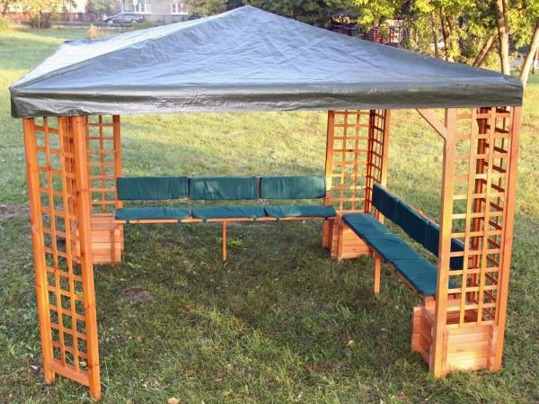 """Sitz- und Rückenauflagen """"Irene"""", für Pavillon, grün, Auflagen, Möbelauflagen, Garten"""