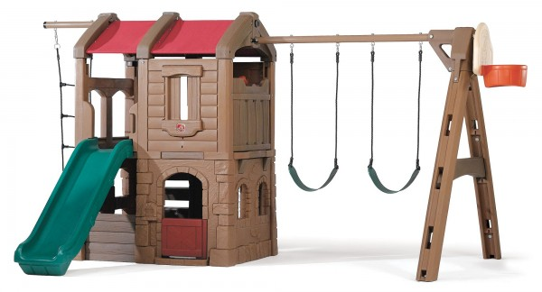 """Kinderspielhaus """"Mufasa"""" groß aus Kunststoff 299,7x421,6x221cm viele Möglichkeiten"""