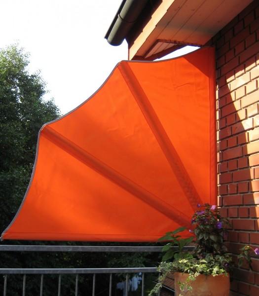 Balkonfächer inkl Schutzhülle u Wandhalterung Sichtschutz orange Stellwand