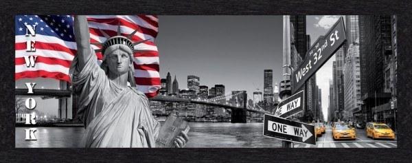 "Bild Wandbild Kunstdruck ""NY City"" 150 x 52 cm"