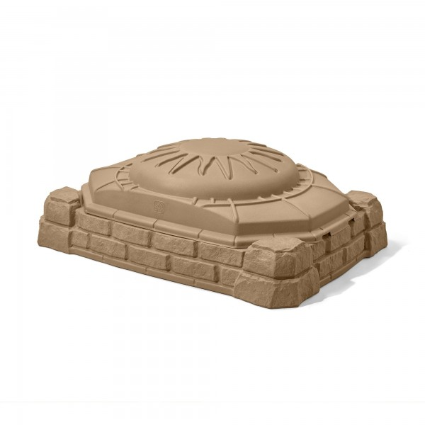 """Sandkasten """"Edard"""" mit Deckel braun aus Kunststoff 81,2x111,8x39,4cm Sandkiste"""