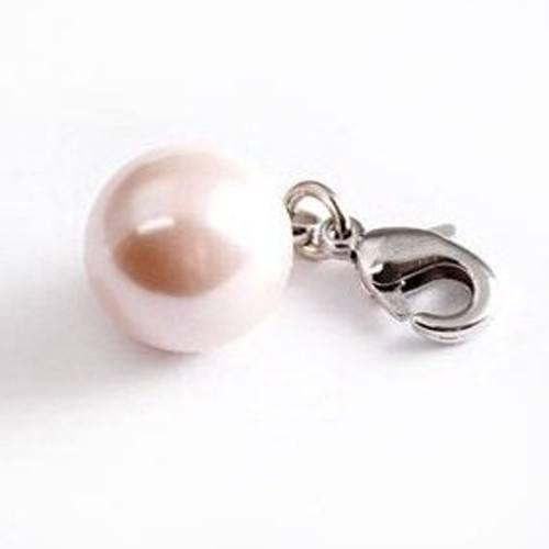 Charm Anhänger Perle altrosa