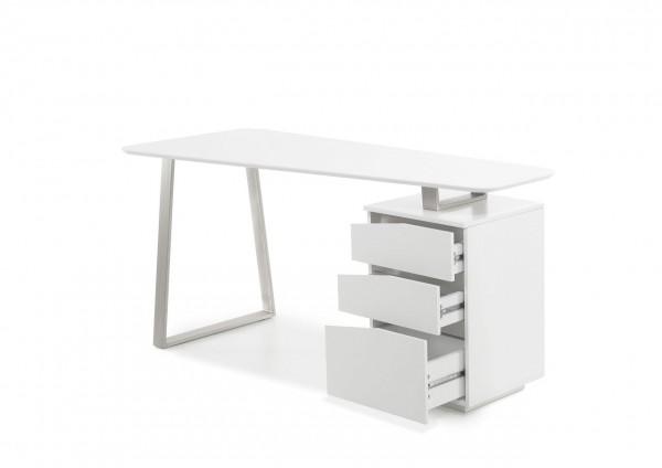"""edelstahl, Schreibtisch """"Melbo"""", Asteiche teilmassiv, 150x75x67 cm"""