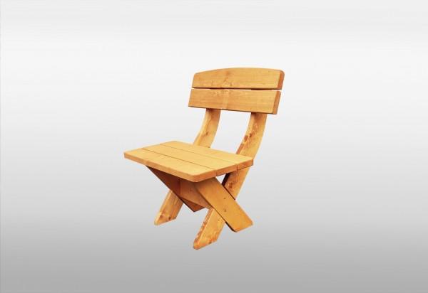 """Holz-Sessel """"Lina"""", honigbraun, 75 x 70 x 90 cm, rustikaler Gartenstuhl, massiv Holz, Garten"""