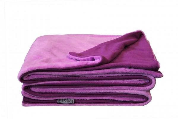 """Wohndecke """"Bella"""" violett Wendeoptik Polyester Microfaser-Nicky Plüsch 150x200cm Tagesdecke"""