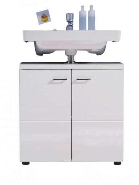 """Waschbeckenunterschrank """"Vivien"""", 65 x 63 x 35 cm, weiß/weiß HG, Badezimmerschrank, Badezimmer"""