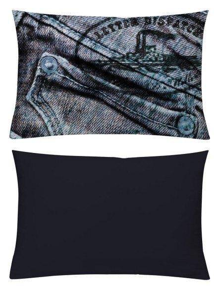 Kissenhülle Jeans Blau