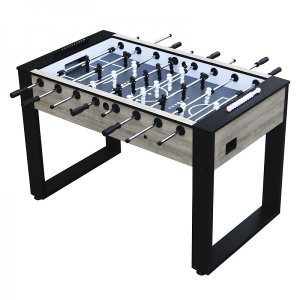 """Fußballtisch """"Zlatan"""" aus Holz in braun-schwarz 140x77x88cm Tischfussball Kicker"""