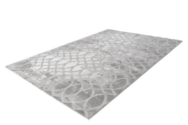 """Teppich """"Maya"""" silber mit Fransen 80x150cm 80x300cm 160x230cm 200x290cm"""