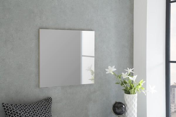 """Spiegel """"Lexy 4"""", Eiche sägerau, 60 x 52 x 2 cm, ohne Rand, große Spiegelfläche"""