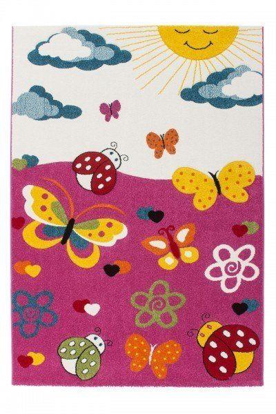 """Beauty.Scouts Kinderteppich """"My little garden"""" pink, 120x170 cm, 160x230 cm, Kinderzimmer, Spielzimmer"""