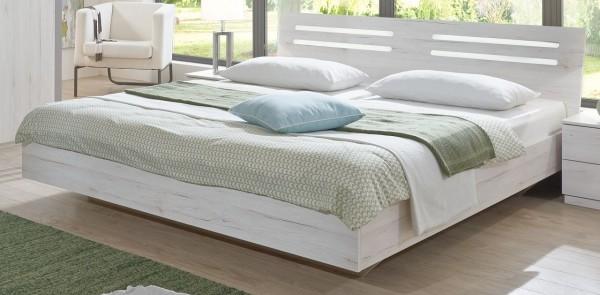 """Futonbett """"Crystal"""", Weißeiche Nachbildung, Liegefläche 180x200 cm, mit oder ohne Nachtschränken"""