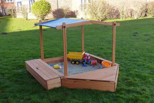 """Sandkasten """"Sandy I"""", Kiefer, 172x260x132cm, Kindersandkasten, Garten, Spielzeug, Kinderspielzeug"""
