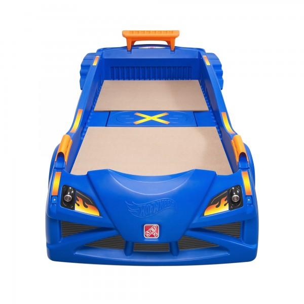 """Kinderbett """"Kuga"""" aus Kunststoff in blau 231,8x132,1x78,7cm Autobett"""