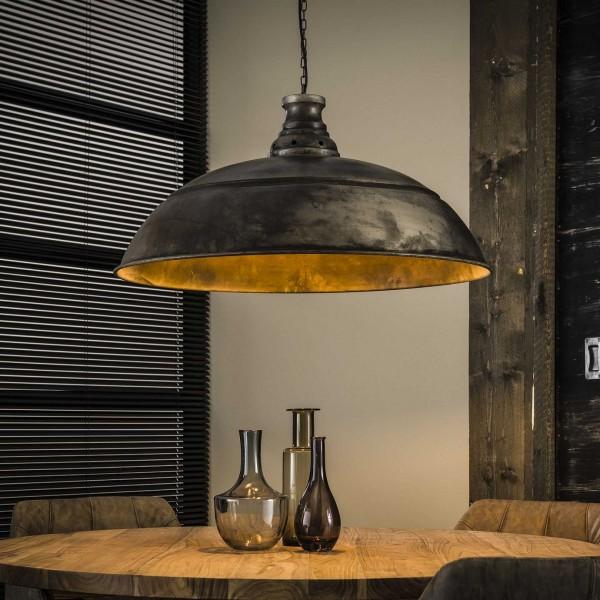 """Hängelampe """"Kunes II"""" 1 Lampenschirm silber Metall 80x80x150cm (B/T/H) Deckenbeleuchtung Zijlstra"""