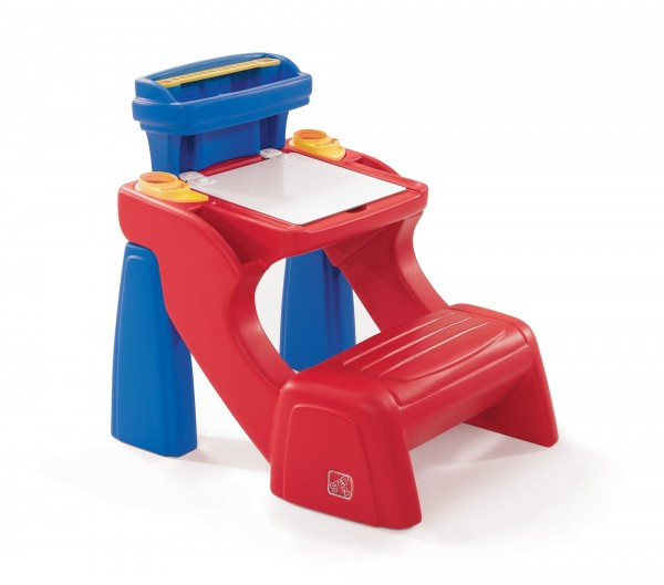 """Kinderschreibtisch """"Mexx"""" aus Kunststoff in blau rot 66x54,6x63,5cm"""