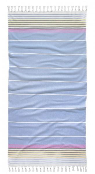 """Tom Tailor Saunatuch """"Miriam"""", 90 x 180 cm, hellblau, Hamamtuch, Strandtuch, Badetuch, Badezimmer"""