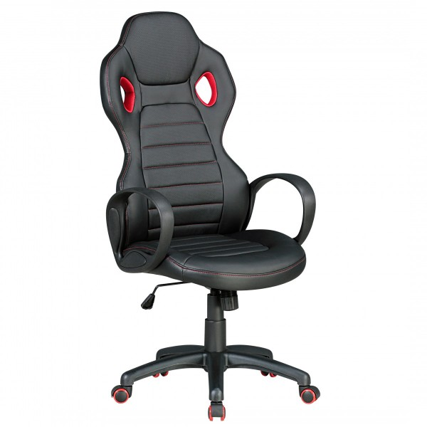 """Bürostuhl """"Staphan"""", schwarz/rot, Kunstleder, Schreibtischstuhl, Gamingstuhl, Drehstuhl, Sessel"""