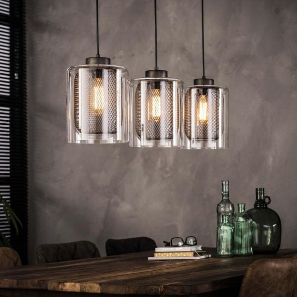 """Hängelampe """"Svanfolk"""" 3 silber Glas 100x20x150cm (B/T/H) Deckenlampe Zijlstra"""