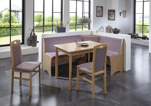 """Eckbankgruppe """"Torben"""" Tisch 2x Stühle Buche massiv Truheneckbank Buche natur Dekor variabel aufbaub"""