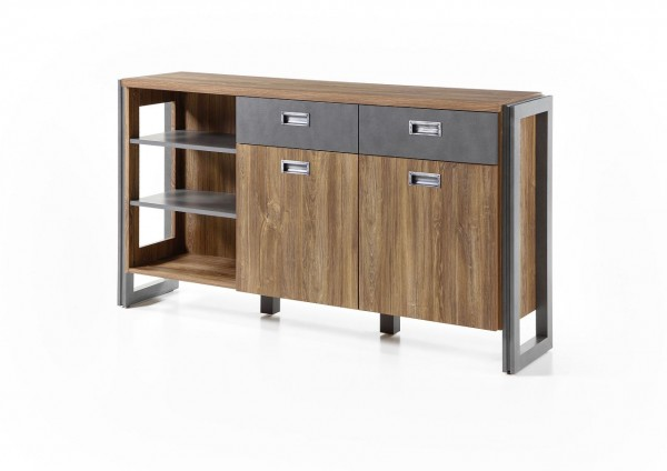 "Sideboard, Kommode, Wohnzimmer, Esszimmer, Industrie ""Java Livin I"" Beauty.Scouts, Stirling oak, Schrank"