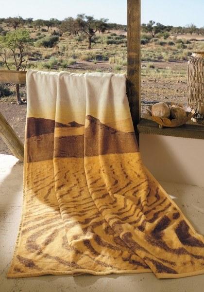 IBENA Wohndecke Jacquard Decke Afrika terra 150x200 cm