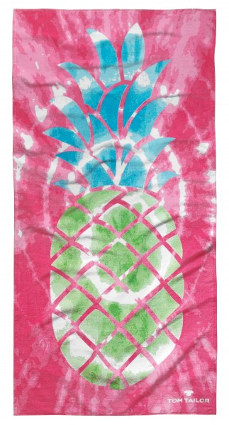 """Tom Tailor Strandtuch """"Ananas Style"""", pink, 85 x 160 cm"""