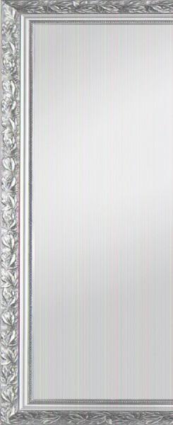 """Beauty.Scouts Rahmenspiegel """"Margaux II"""", Spiegel Klarglas silber Verzierungen Aufhänger 46x111cm"""