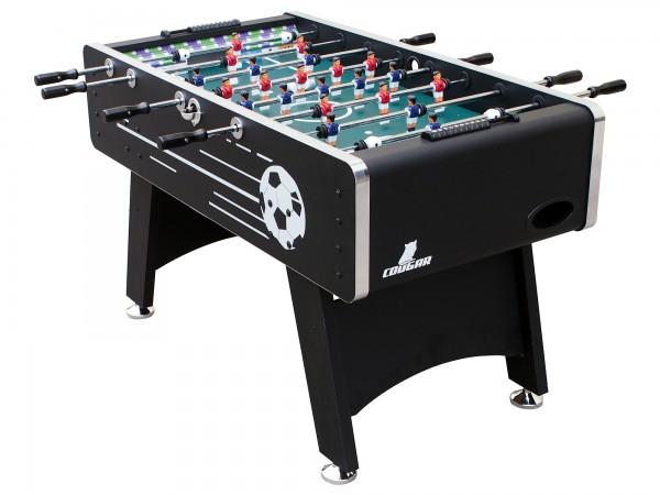 """Fußballtisch """"Kahn"""" aus Holz in schwarz 141x75x88cm Tischfussball Kicker"""