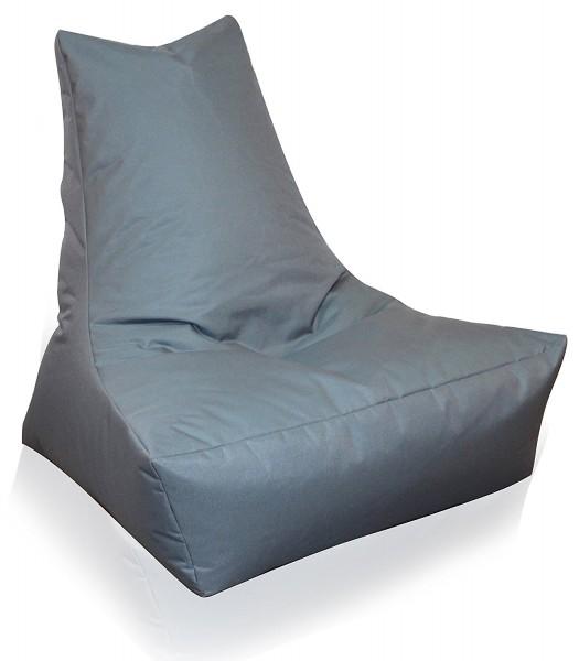 Mesana XXL Lounge-Sessel, 100x90x80 cm, Sitzsack Outdoor & Indoor, wasserabweisend, anthrazit