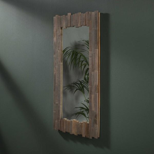 """Zijlstra 2683 19G - Teakholz grau waschen Spiegel Teca 50x100 Wandspiegel Spiegel """"Mondei XL"""" braun Teakholz grau gewaschen braun 50x100cm Flurspiegel"""