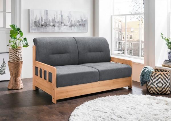 "Sofa ""Vague"" Braun Dunkelgrau 154 x 88 x 90 cm (B/H/T) 2-Sitzer mit Liegefunktion Schlafsofa"