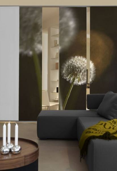 emotion textiles schiebevorhang fl chenvorhang pusteblume. Black Bedroom Furniture Sets. Home Design Ideas