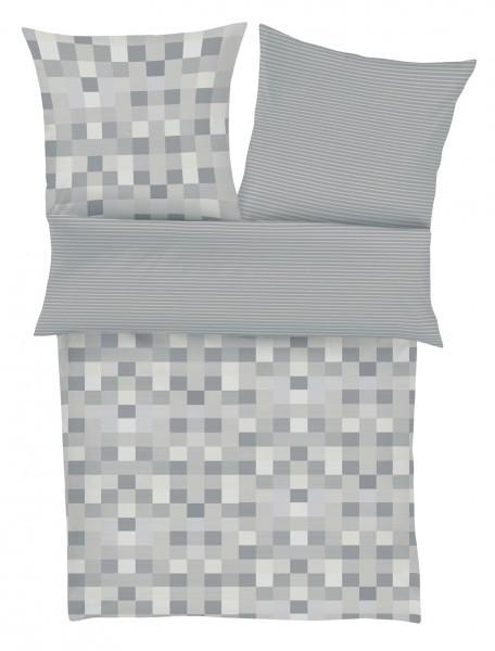 Satinbettwäsche bugatti grau/Pixel